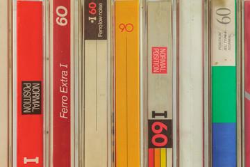Vintage audio compact cassettes