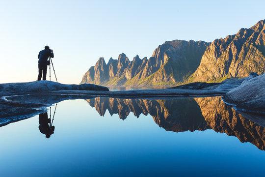 Photographer at Tungeneset, Senja, Northern Norway