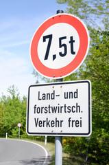 Schild Verbotsschild Verkehrszeichen Land und Forstwirtschaft