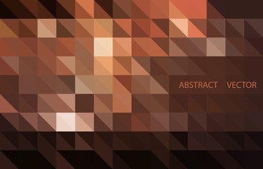 Dark Brown vector shining triangular background. Shining illustration, which consist of triangles.