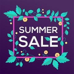 Summer sale - modern vector colorful illustration