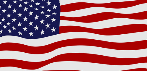 Waving flag of the USA, vector illustration