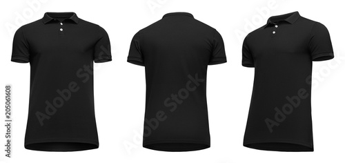 Polo shirt black black polo shirt template png, transparent png.