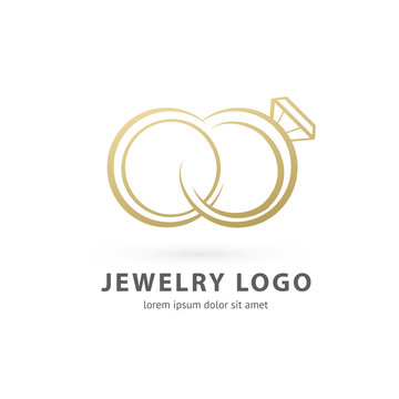 Logo design abstract engagement vector template.