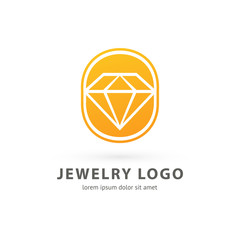 Logo design abstract diamond vector template.