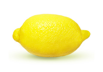 Isolated lemon on white background