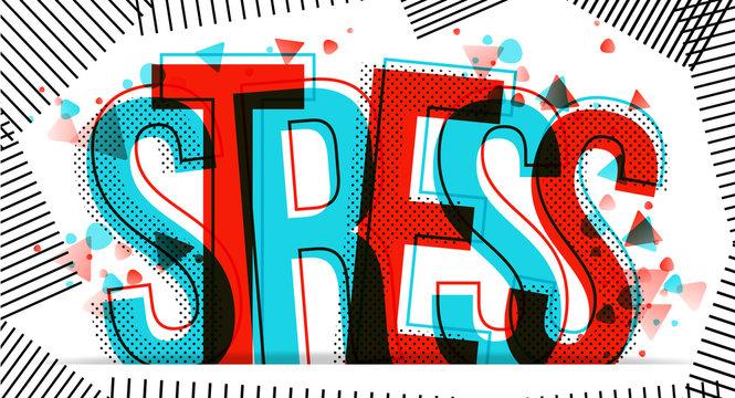 Stress vector illustration.