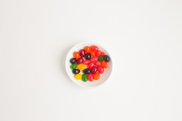 Colorful jelly beans shot with selective focus