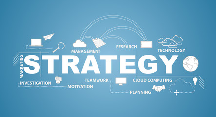strategy text infographic design graphic concept