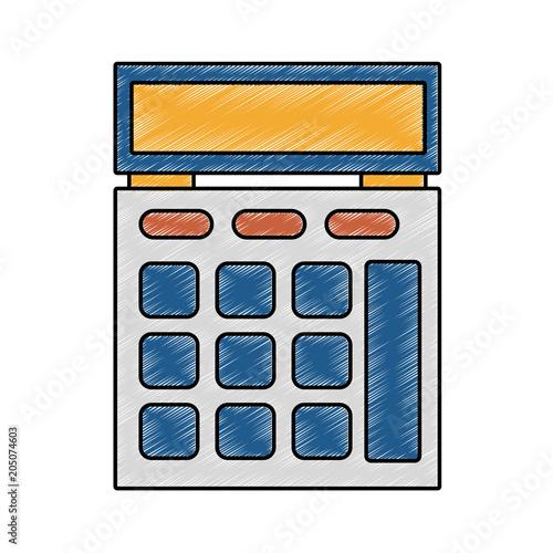 Calculator math device vector illustration graphic design\