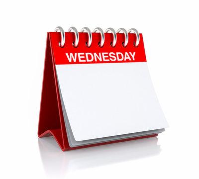 Wednesday Calendar Day