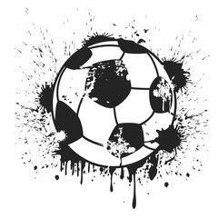 grungy black soccer ball background