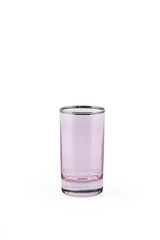 Glass transparent empty glass for drinks, isolated on white background