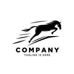 jumping horse style logo