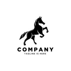 elegant standing horse logo