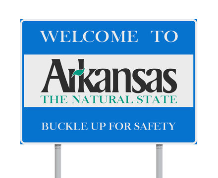 Welcome to Arkansas road sign