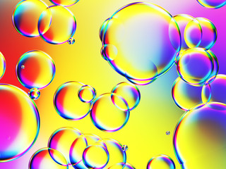 some colorful bubbles background