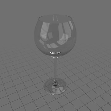 Wide wine glass