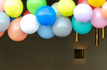 Colorful balloons decoration for party