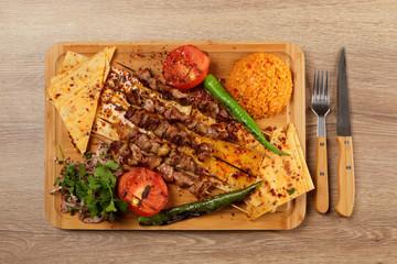 Shish Kebabs on Table