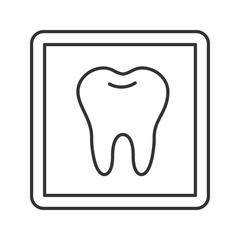 Dental X-ray linear icon