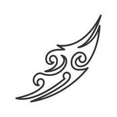 Tattoo image linear icon