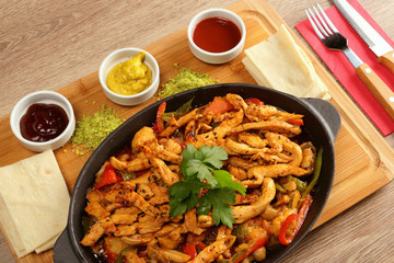 Kebab with Chicken Meat in Casserole