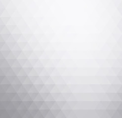 White and gray soft triangles, abstract gradient art geometric background.