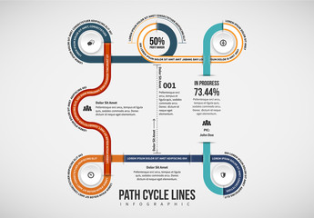 Looping Paths Infographic Layout