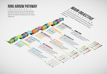 Arrows and Rings Pathway Infographic Layout