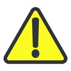 Danger warning attention hazard sign, vector illustration