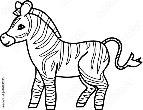 Cartoon Zebra Coloring Pages, StripedCartoonZebraColoringPage, Cartoon Zebra Coloring Pages