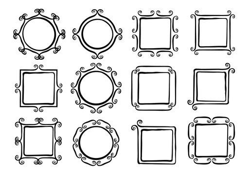 Whimsical swirl frames