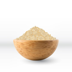 Realistic Vector Rice Isolated
