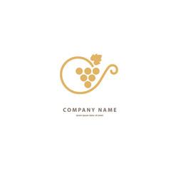 Vector stock logo, abstract wine vector template.