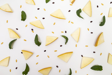 Melon pieces and seeds pattern