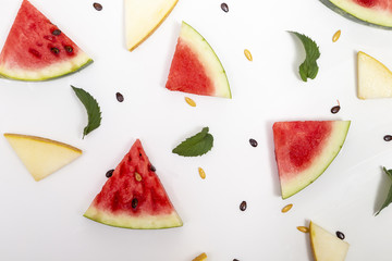 Watermelon pieces pattern
