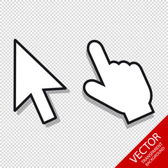 Mouse Pointer Set - Editable Vector Icons - Isolated On Transparent Background