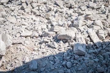 Broken Concrete After Demolition