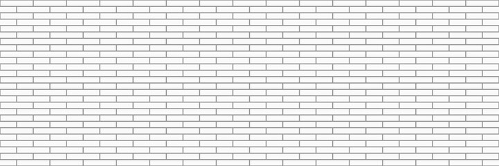 Wall Mural - horizontal modern white brick wall for pattern and background,vector illustration