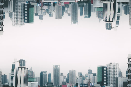 Invert City upside down, Parallel universe science theory of cityscape