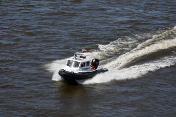 River police on the Vistula.