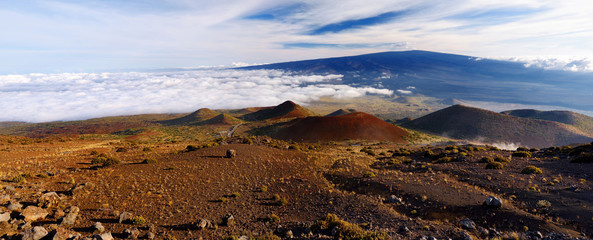 Breathtaking view of Mauna Loa volcano on the Big Island of Hawaii