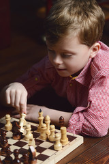 boy thought about chess