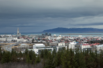 A cloudy day in Reykjavik
