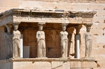 Printed kitchen splashbacks Athens caryatides, caryatides, acropole, Athènes