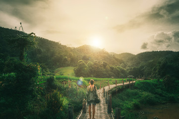 Woman traveling in Thailand