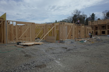 Concrete walls and framing