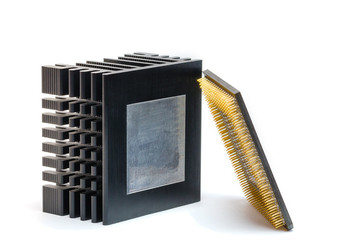 Cpu radiator isolated on the white background