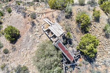 Old mine remains - aerial view